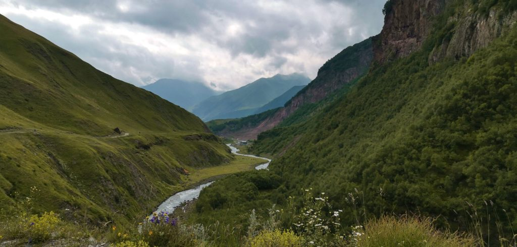 Dolina Truso - Początek trasy - rzeka Terek