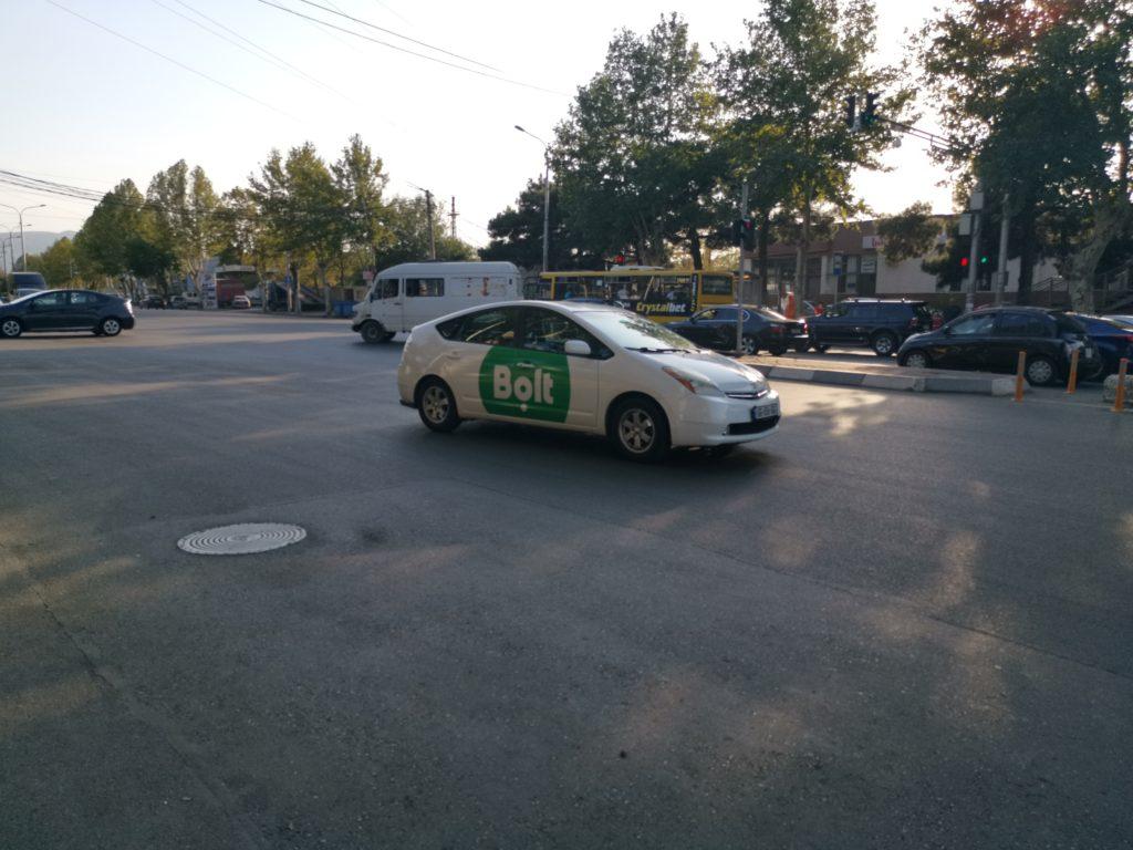 Przykładowa taksówka zamówiona przez aplikację Bolt
