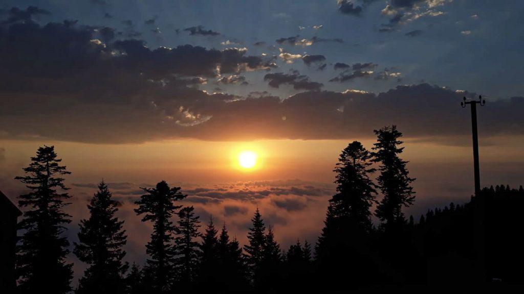 Zachód słońca w Gomis Mta 😍 Najpiękniejsze miejsce w Gruzji!