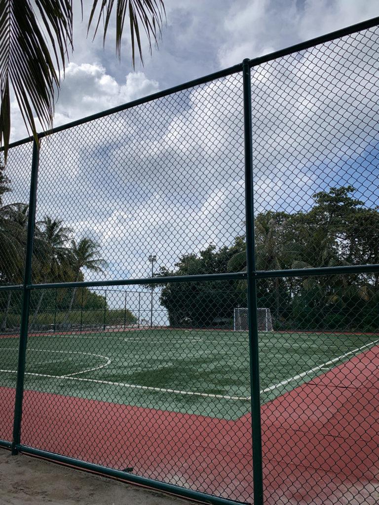 Boisko sportowe na Malediwach