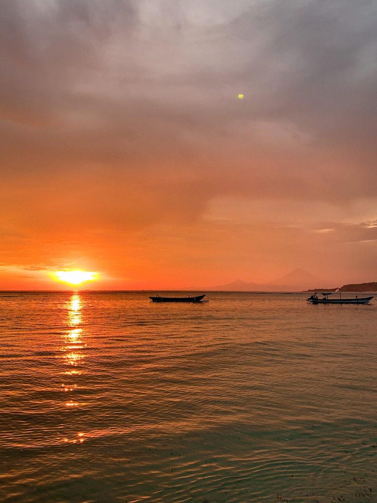 Wyspy Gili - zachód słońca na Gili Air