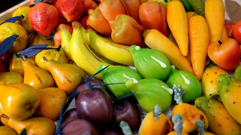 Jedzenie na Sycylii - marcepanowe owoce i warzywa